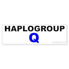 Haplogroup Q Bumper Bumper Sticker