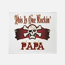 Rockin Papa Throw Blanket