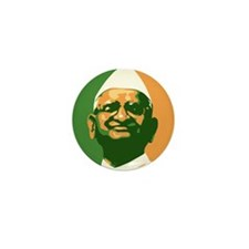 Anna Hazare. Mini Button