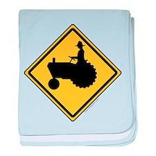 Tractor Sign baby blanket