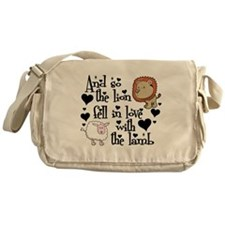 Lion fell in love with lamb Messenger Bag