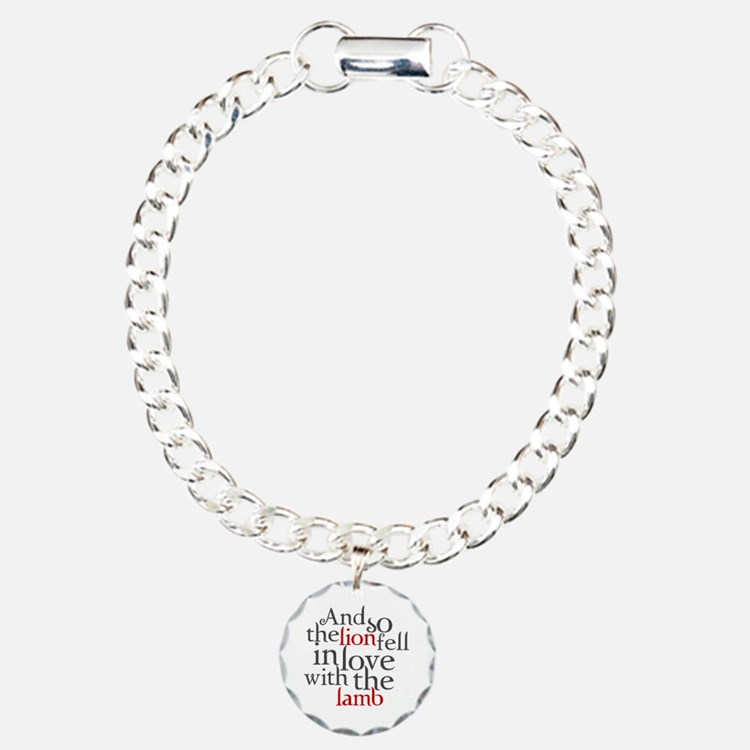 Lion fell in love with the lamb Charm Bracelet, On
