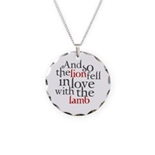 Lion fell in love with the lamb Necklace Circle Ch