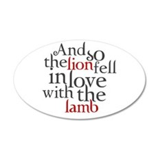 Lion fell in love with the lamb Wall Decal