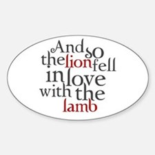 Lion fell in love with the lamb Decal