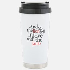 Lion fell in love with the lamb Travel Mug