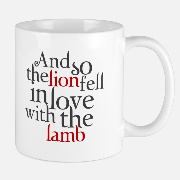 Lion fell in love with the lamb Mug