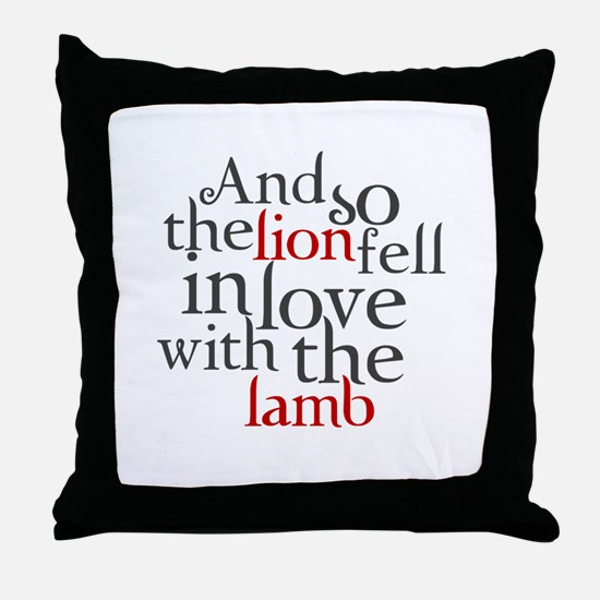 Lion fell in love with the lamb Throw Pillow