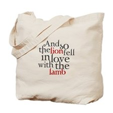 Lion fell in love with the lamb Tote Bag
