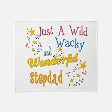 Wild Wacky Stepdad Throw Blanket