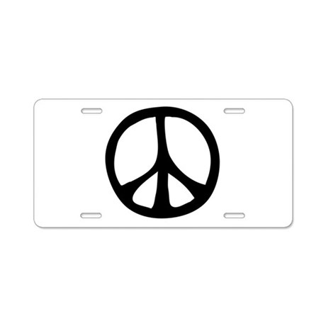 Flowing Peace Sign Aluminum License Plate