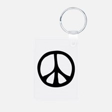 Flowing Peace Sign Keychains