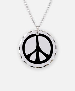 Flowing Peace Sign Necklace