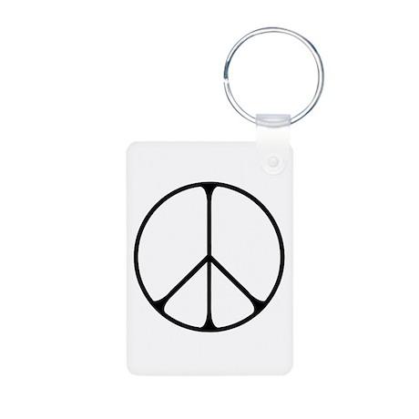 Elegant Peace Sign Aluminum Photo Keychain