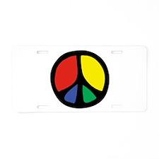 Flowing Peace Color Aluminum License Plate