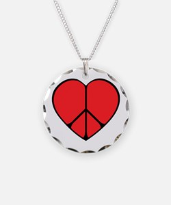 Peace Sign Heart Necklace