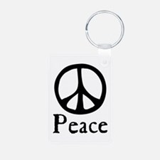 Flowing 'Peace' Sign Keychains