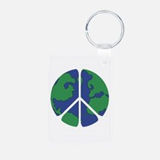 Global Peace Sign Keychains