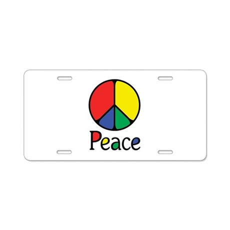 Emphatic Peace Colours Aluminum License Plate