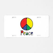 Emphatic Peace Colours Aluminum License Plate