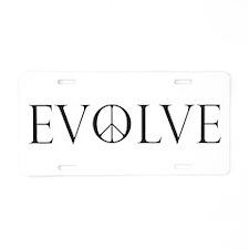 Evolve Peace Perpetua Aluminum License Plate