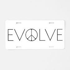 Evolve Peace Narrow Aluminum License Plate