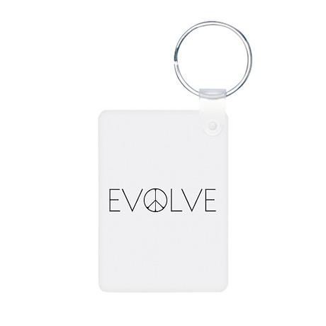 Evolve Peace Narrow Aluminum Photo Keychain