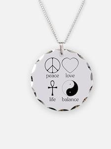 Peace Love Life Balance Necklace