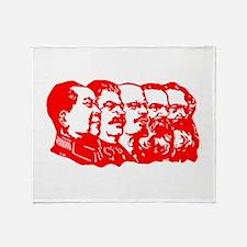 Mao,Stalin,Lenin,Engels,Marx Throw Blanket