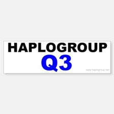 Haplogroup Q3 Bumper Bumper Bumper Sticker
