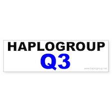 Haplogroup Q3 Bumper Bumper Sticker