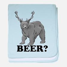 Beer Bear baby blanket