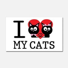 I love my cats Car Magnet 20 x 12