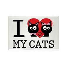 I love my cats Rectangle Magnet (10 pack)