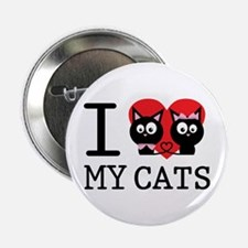 "I love my cats 2.25"" Button"