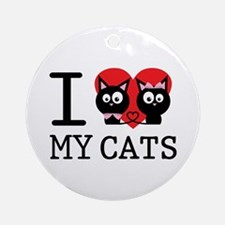I love my cats Ornament (Round)