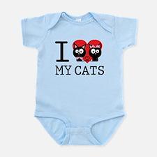I love my cats Infant Bodysuit