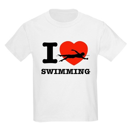 I love Swimming Kids Light T-Shirt