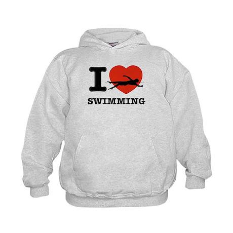 I love Swimming Kids Hoodie