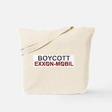 """Boycott Exxon Mobile"" Tote Bag"