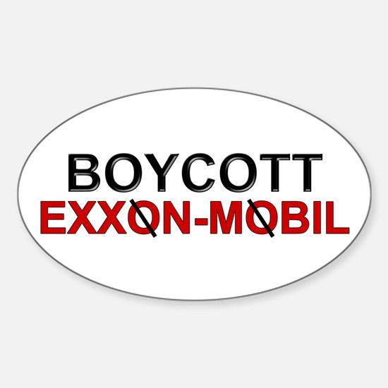 """Boycott Exxon Mobile"" Oval Decal"