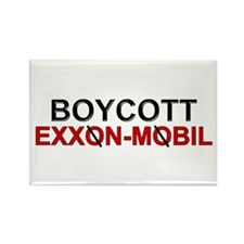 """Boycott Exxon Mobile"" Rectangle Magnet"