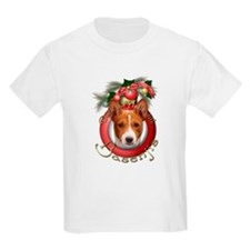 Christmas - Deck the Halls - Basenjis T-Shirt