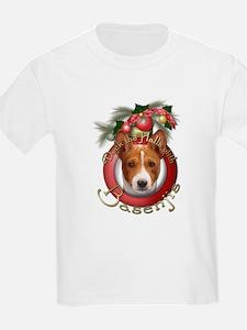 Christmas - Deck the Halls - Basenjis T-Shirt