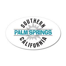 Palm Springs California 22x14 Oval Wall Peel