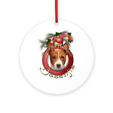 Christmas - Deck the Halls - Basenjis Ornament (Ro