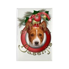 Christmas - Deck the Halls - Basenjis Rectangle Ma