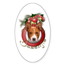 Christmas - Deck the Halls - Basenjis Decal