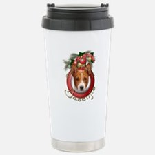 Christmas - Deck the Halls - Basenjis Travel Mug