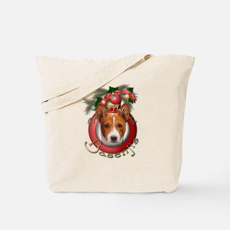 Christmas - Deck the Halls - Basenjis Tote Bag